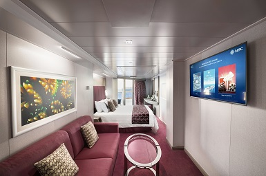 MSC Seaside, Suite with whirlpool bath